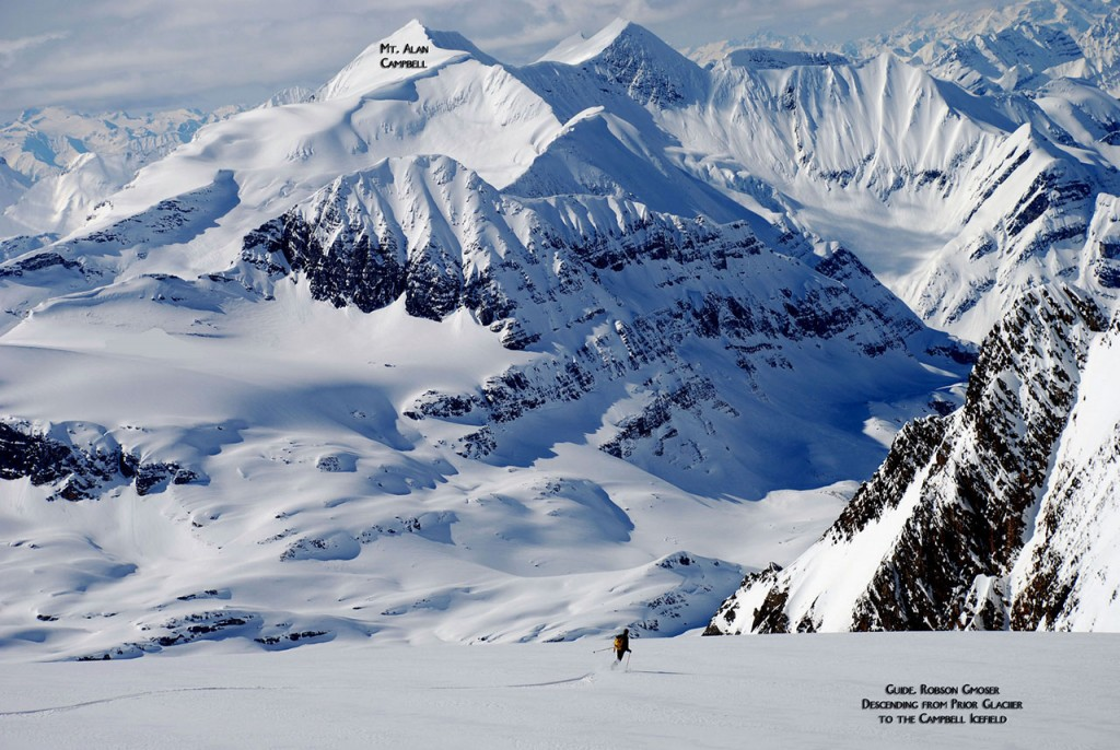 Skier On Prior Glacier (photo credit: Bruce Roberts)