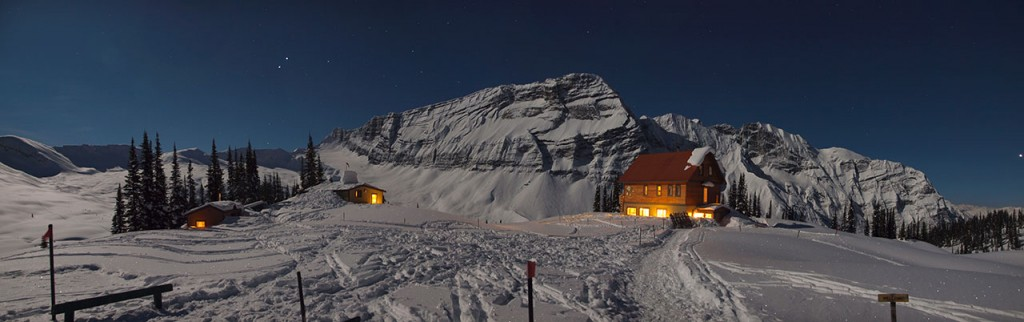 Chalet At Night (photo credit: Todd Leeds)